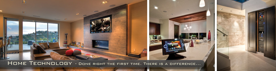 Custom Home with a Crestron Home Automation System and Home Theater