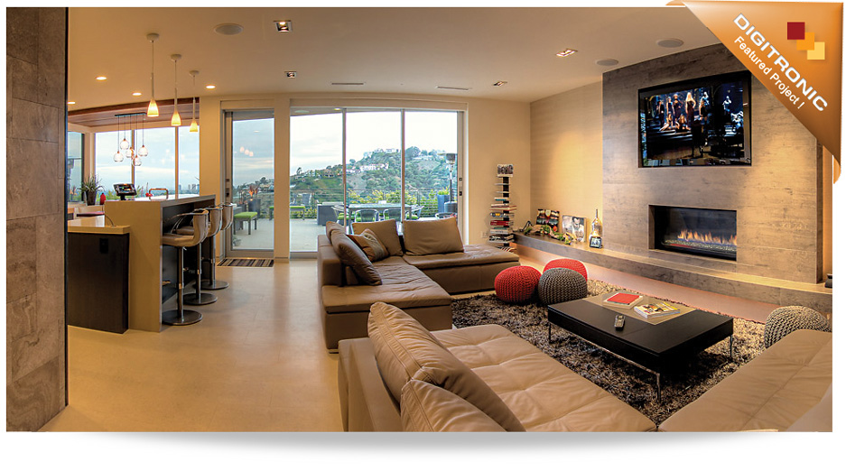 Home featuring a Crestron Home Theater Installation