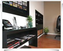 Digitronic office with Crestron control system on display
